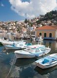 Fishing boats at Symi Stock Photo