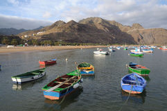 Fishing boats, Tenerife Spain Stock Photo