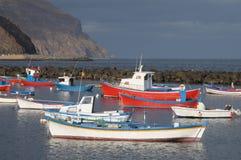 Fishing boats, Tenerife Spain. Fishing boats at Las Teresitas, Tenerife Spain Royalty Free Stock Photos