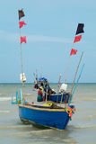 Fishing-boats in Thailand. Fishing-boats off the beach of Na Jomtien, Chonburi province, Thailand Stock Photography