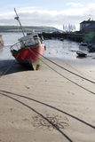 Fishing Boats Tied Up In Youghal Bay Royalty Free Stock Photos