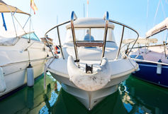 Fishing boats in Torrevieja port. Royalty Free Stock Images