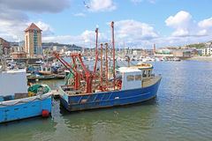 Fishing boats. Fishing trawlers in Swansea harbour Royalty Free Stock Photography