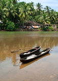 Fishing boats in tropical river. Goa Royalty Free Stock Photos