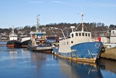Fishing boats and tugs. (6) Stock Image