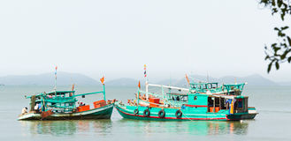 Fishing boats Vietnam Royalty Free Stock Photography