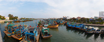 Fishing boats in Vietnam Royalty Free Stock Photos
