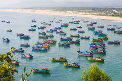 Fishing boats in Vietnam Stock Image