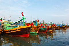 Fishing boats Vietnam Royalty Free Stock Image