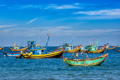 Fishing boats in Vietnam Stock Photos