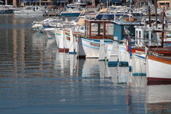 Fishing boats in the Vieux Port of Marseille Royalty Free Stock Images