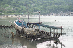 Fishing boats in Vinh Hy bay, Vietnam Royalty Free Stock Image