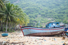 Fishing boats in Vinh Hy bay, Vietnam Royalty Free Stock Photos