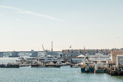 Fishing Boats and Yachts in Portland Stock Images