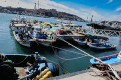 Fishing Boats in Yeosu, South Korea Royalty Free Stock Image