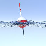 Fishing bobber. On water surface Royalty Free Stock Photos