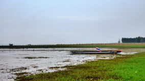 Fishing boat at Ubolrat reservior Royalty Free Stock Photography