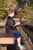 Fishing Boy Stock Photos