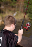 Fishing Boy Stock Photography
