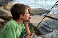 Fishing Boy Royalty Free Stock Photos