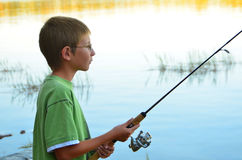 Fishing Boy Royalty Free Stock Images