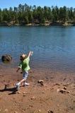 Fishing Boy Stock Image