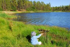 Fishing Boy 22 Royalty Free Stock Photos