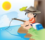 Fishing boy Stock Image