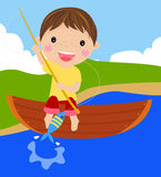 Fishing boy Royalty Free Stock Image