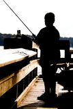 Fishing Boy Silhouette Royalty Free Stock Photo