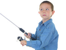 Fishing Boy Two Royalty Free Stock Image