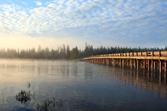Fishing Bridge. In the morning,yellowstone national park Royalty Free Stock Images