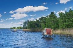 Fishing bridge Royalty Free Stock Photo