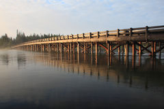Fishing Bridge,Yellowstone National Park. Fishing Bridge crowns the northern tip of Yellowstone Lake, the country's largest high-elevation lake at a little more royalty free stock images