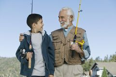 Fishing Buddies Stock Photos