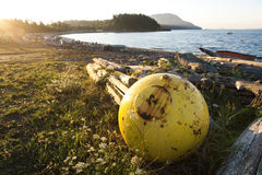 Fishing Buoy on the Beach. Royalty Free Stock Image