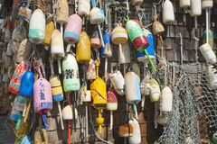 Fishing buoys Royalty Free Stock Photo
