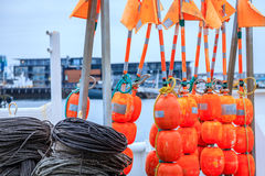 Fishing buoys Royalty Free Stock Photos