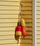 Fishing Buoys House Shingles Yellow Royalty Free Stock Photos
