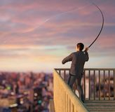 Fishing for Business Stock Image