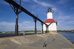 Fishing By St. Joseph Lighthouse Stock Photos