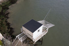 Fishing cabin in the estuary. Royalty Free Stock Photo