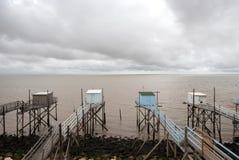 Fishing cabins Stock Image