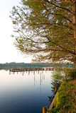 Fishing Camp. A fishing camp on the Chickahominy River just west of Williamsburg Va stock photography