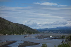 A fishing camp at the copper river Stock Photo