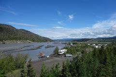 A fishing camp at the copper river Stock Images