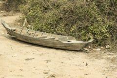 Fishing canoe near Siem Reap Royalty Free Stock Image