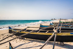 Fishing canoes royalty free stock image