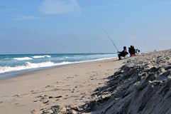 Fishing at Cape Canaveral Stock Image