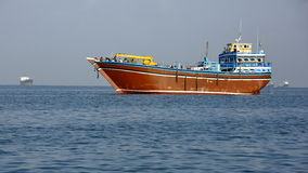 Fishing and cargo ships which are used for transportation in Red Sea and Gulf of Aden Royalty Free Stock Photography